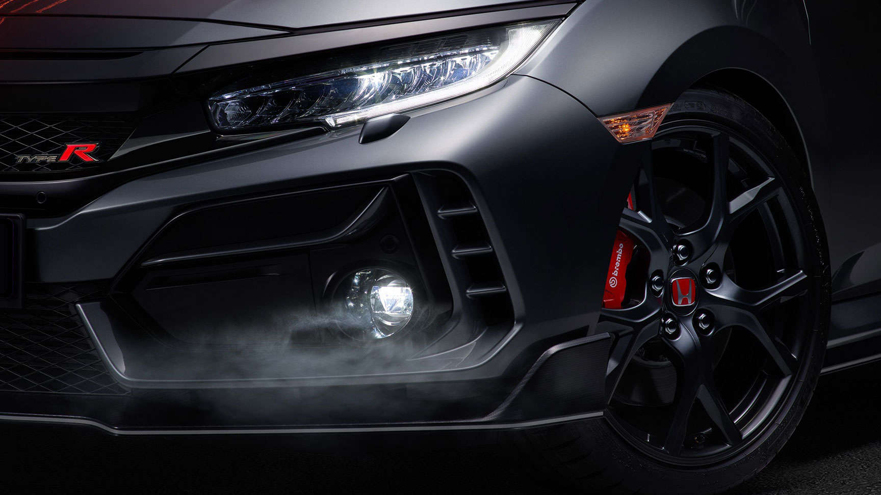 Close up of Type R headlights