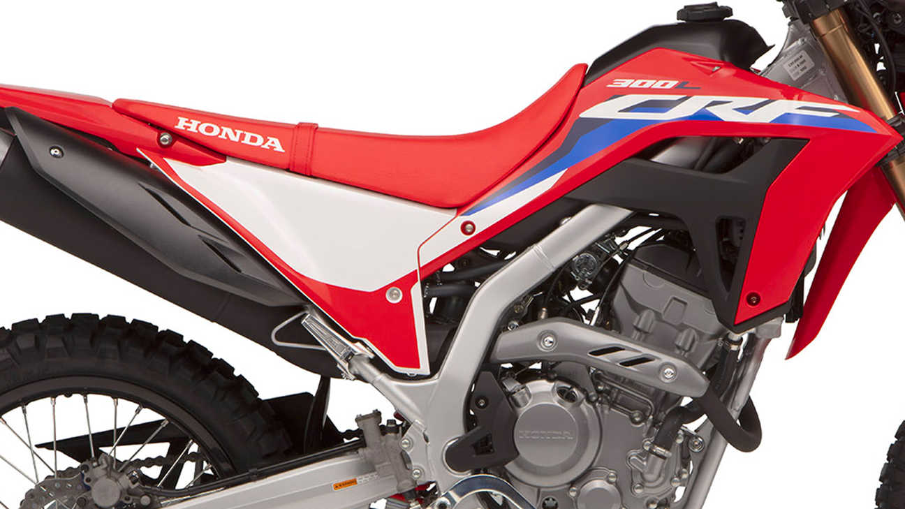 Honda CRF300L, leichteres Chassis
